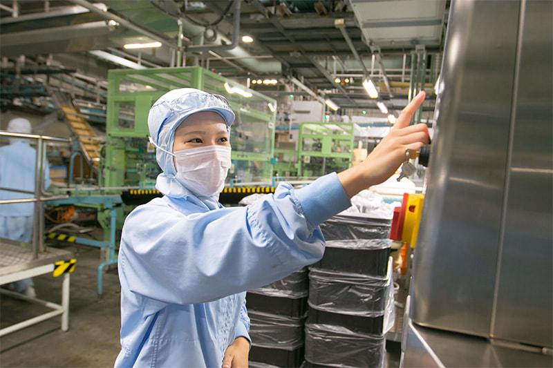 大手乳業メーカーのデザート製造オペレーター